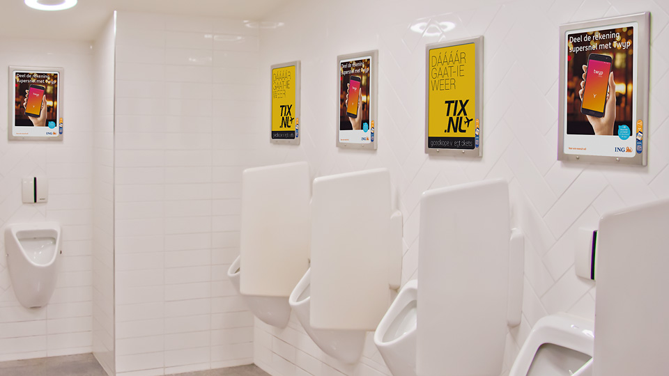 Altermedia ING Groep Toiletreclame WCreclame Toiletmedia Washroom media