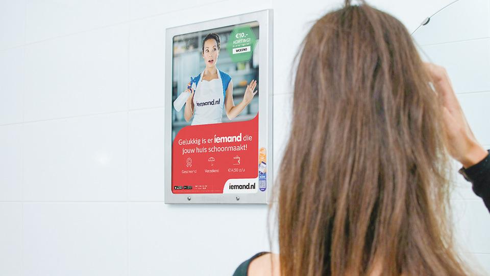 Altermedia Iemand Gemakdiensten Toiletreclame WCreclame Toiletmedia Washroom media