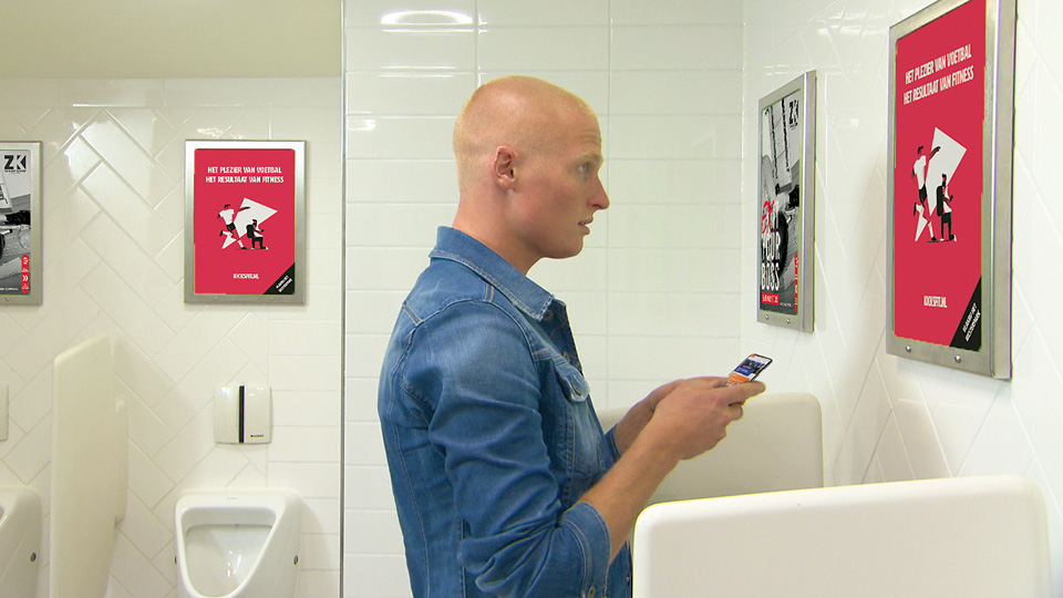 Altermedia KNVB Toiletreclame WCreclame Toiletmedia Washroom media