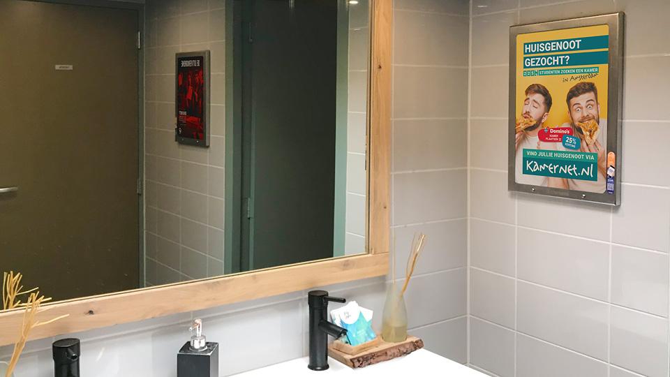 Altermedia Kamernet Toiletreclame WCreclame Toiletmedia Washroom media