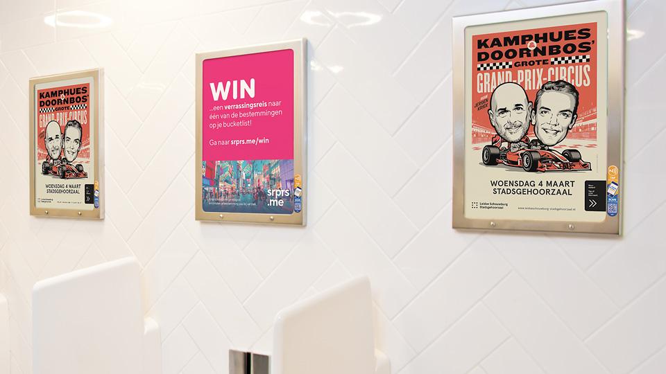 Altermedia  Leidse Schouwburg - Stadsgehoorzaal Toiletreclame WCreclame Toiletmedia Washroom media