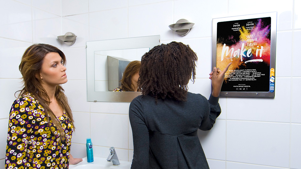 Altermedia Make It Jazz Festival Toiletreclame WCreclame Toiletmedia Washroom media