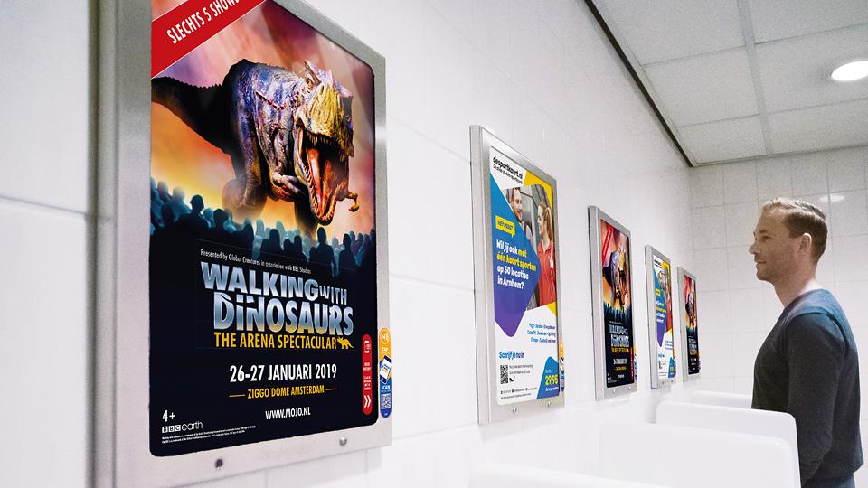 Altermedia Mojo Concerts Toiletreclame WCreclame Toiletmedia Washroom media