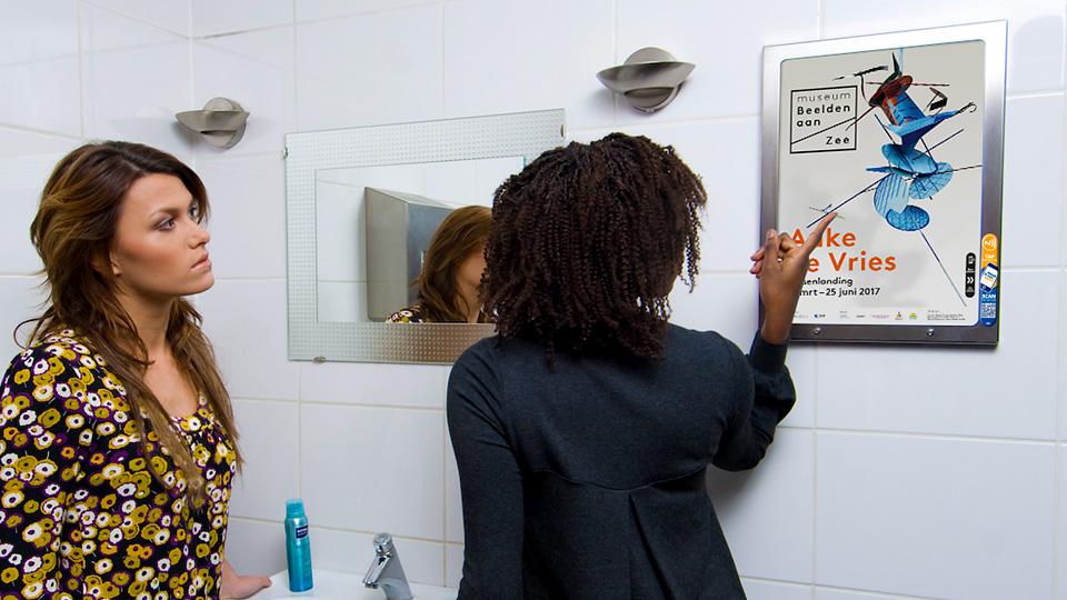 Altermedia Museum Beelden aan Zee Toiletreclame WCreclame Toiletmedia Washroom media