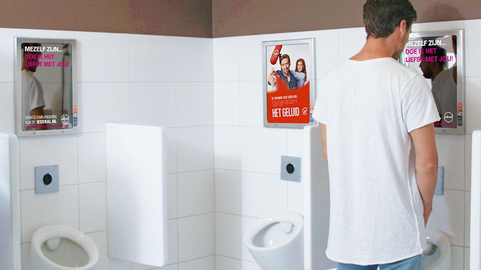 Altermedia ApostolischGenootschap Iederal Toiletreclame Wcreclame toiletmedia Washroom media