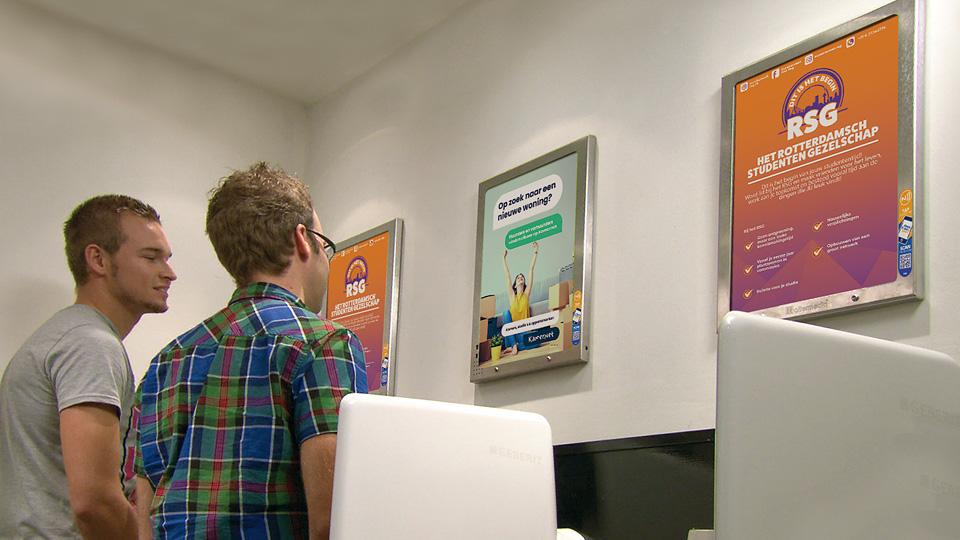 Altermedia Het Rotterdamsch studenten gezelschap WCreclame Toiletmedia Washroom media
